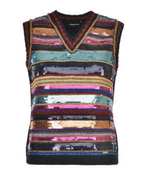 Dsquared2: vests - Embellished knitted vest