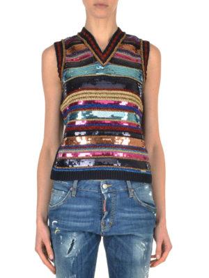 Dsquared2: vests online - Embellished knitted vest