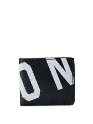 DSQUARED2: portafogli - Portafoglio in pelle con stampa Icon