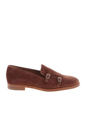 Edhèn Milano: lace-ups shoes - Park brown monk shoes
