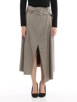 Eleventy: Knee length skirts & Midi online - Belted wrap skirt