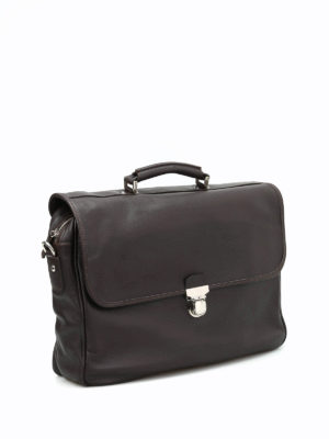 Eleventy: laptop bags & briefcases online - Soft leather briefcase