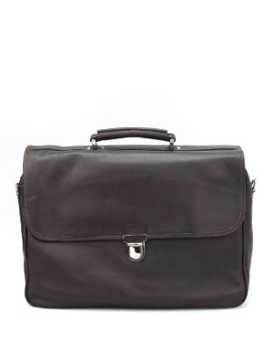 Eleventy: laptop bags & briefcases - Soft leather briefcase