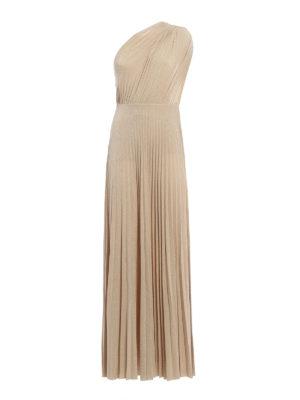 Elisabetta Franchi: evening dresses - Lamé jersey pleated gown