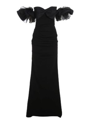 ELISABETTA FRANCHI: evening dresses - Red Carpet dress with bow