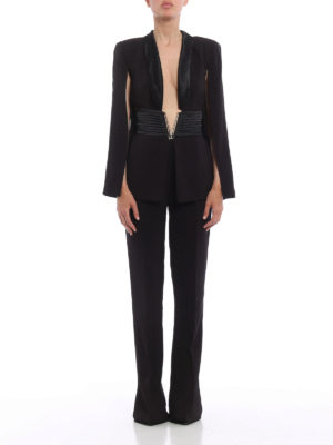 Elisabetta Franchi: jumpsuits online - Cut-out top and flared leg jumpsuit