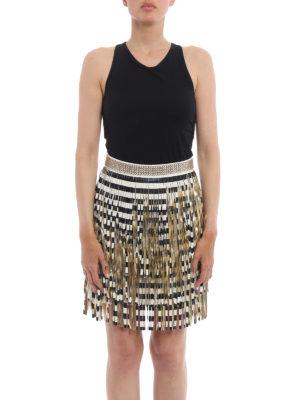 Elisabetta Franchi: mini skirts online - Gold-tone fringe mini skirt