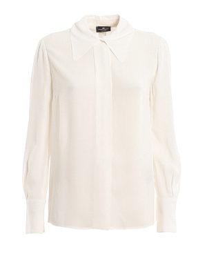 ELISABETTA FRANCHI: shirts - White georgette shirt