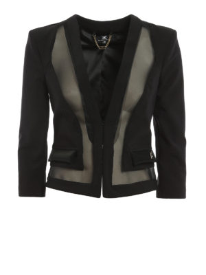 Elisabetta Franchi: Tailored & Dinner - Mesh inserts formal jacket