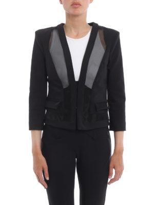 Elisabetta Franchi: Tailored & Dinner online - Mesh inserts formal jacket
