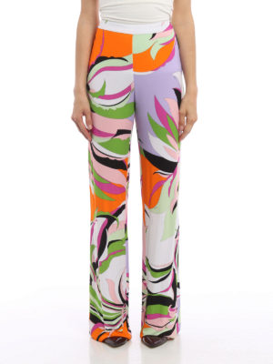 Emilio Pucci: casual trousers online - Silk and viscose casual trousers