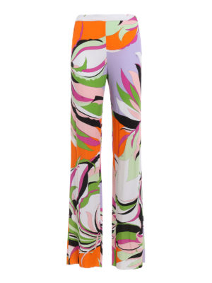 Emilio Pucci: casual trousers - Silk and viscose casual trousers