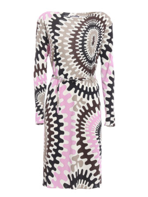 Emilio Pucci: knee length dresses - Marylin jersey belted dress