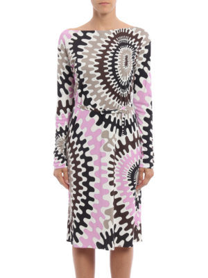 Emilio Pucci: knee length dresses online - Marylin jersey belted dress