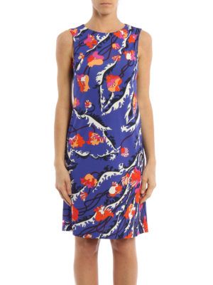 Emilio Pucci: knee length dresses online - Ranuncoli print georgette dress