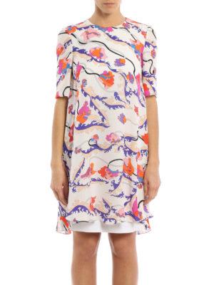 Emilio Pucci: knee length dresses online - Ranuncoli printed A-line dress