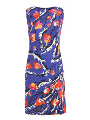 Emilio Pucci: knee length dresses - Ranuncoli print georgette dress