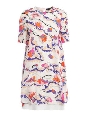 Emilio Pucci: knee length dresses - Ranuncoli printed A-line dress