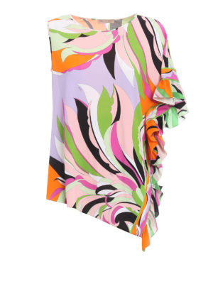 Emilio Pucci: Tops & Tank tops - Silk blend asymmetrical tank top