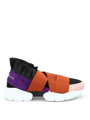 Emilio Pucci: trainers - Leather and neoprene slip-ons