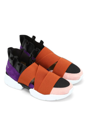 Emilio Pucci: trainers online - Leather and neoprene slip-ons