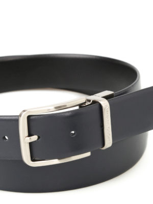Emporio Armani: belts online - Smooth leather reversible belt