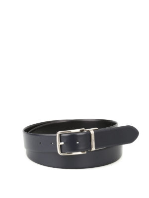 Emporio Armani: belts - Smooth leather reversible belt