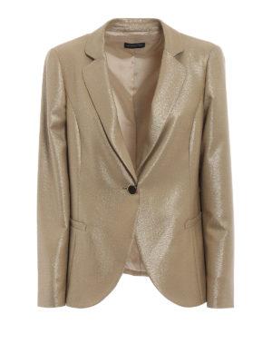 EMPORIO ARMANI: giacche blazer - Blazer in lana con inserti all-over in lurex