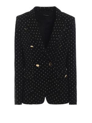 EMPORIO ARMANI: giacche blazer - Blazer motivo a pois in lurex metallizzato
