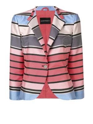 e6f99ec0851b EMPORIO ARMANI  giacche blazer - Blazer corto a righe multicolor