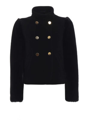 EMPORIO ARMANI: giacche casual - Giacca crop modello army con eco pelliccia