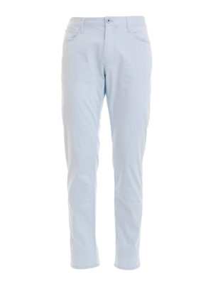 Emporio Armani: casual trousers - Light blue jeans-style trousers