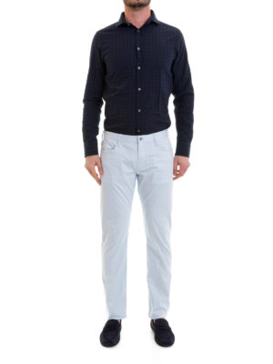Emporio Armani: casual trousers online - Light blue jeans-style trousers