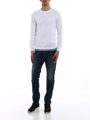 Emporio Armani: crew necks online - Knitted cotton crew neck pullover