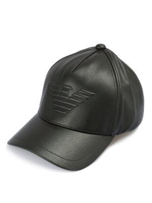 EMPORIO ARMANI: cappelli - Cappellino da baseball con logo goffrato