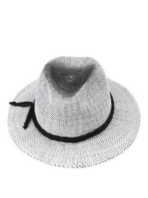 EMPORIO ARMANI: cappelli - Cappello Fedora bicolore a tesa larga