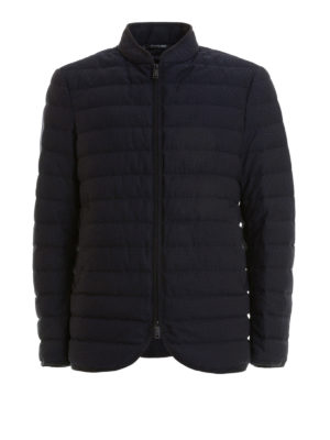 Emporio Armani: padded jackets - Quilted padded honeycomb jacket