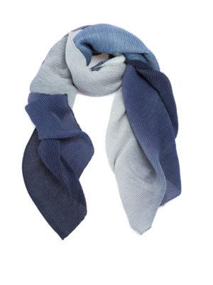 Emporio Armani: scarves - Fading blue pleated scarf