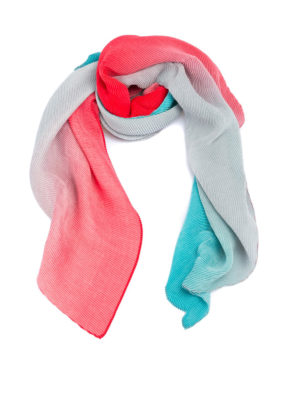 Emporio Armani: scarves - Multicolour pleated scarf