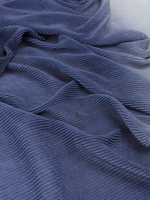 Emporio Armani: scarves online - Fading blue pleated scarf