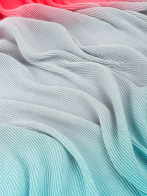 Emporio Armani: scarves online - Multicolour pleated scarf