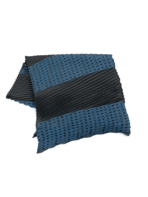 Emporio Armani: scarves online - Pleated two-tone scarf