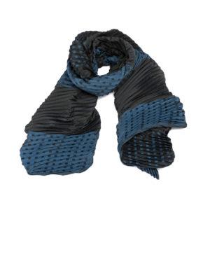 Emporio Armani: scarves - Pleated two-tone scarf