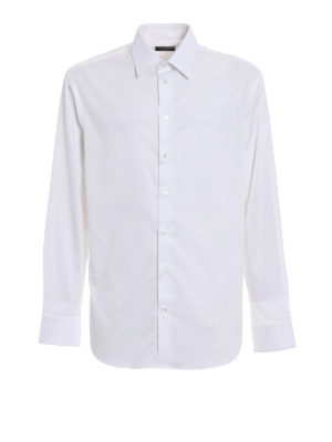 Emporio Armani: shirts - Cotton twill white modern fit shirt