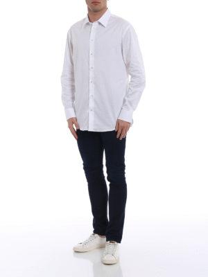Emporio Armani: shirts online - Cotton twill white modern fit shirt