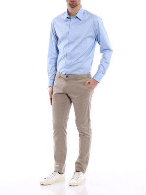Emporio Armani: shirts online - Light blue stretch cotton shirt