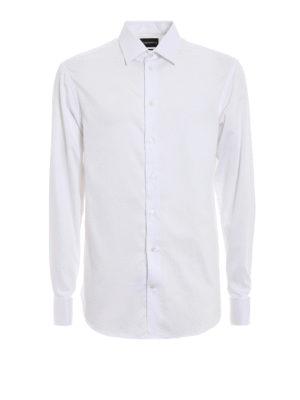 EMPORIO ARMANI: camicie - Camicia modern fit in cotone lavorato
