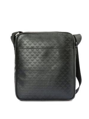 EMPORIO ARMANI: borse a spalla - Borsello in pelle stampata