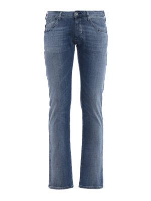 Emporio Armani: skinny jeans - J 20 extra slim stone washed jeans