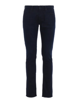 Emporio Armani: skinny jeans - J06 dark wash slim jeans